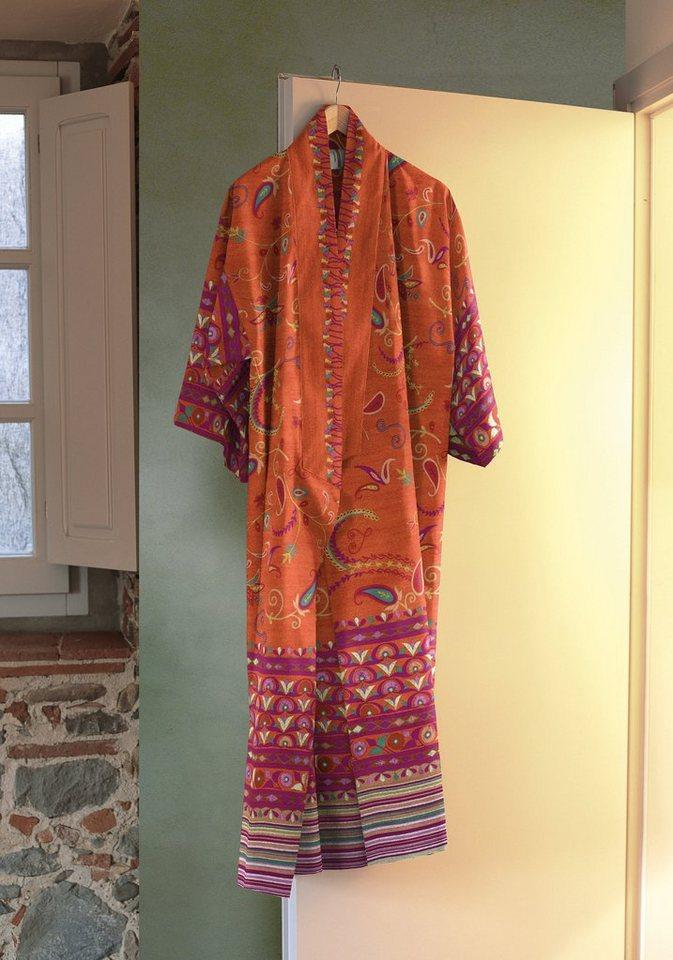 Kimono, Bassetti, »Lilith«, mit Blüten in orange