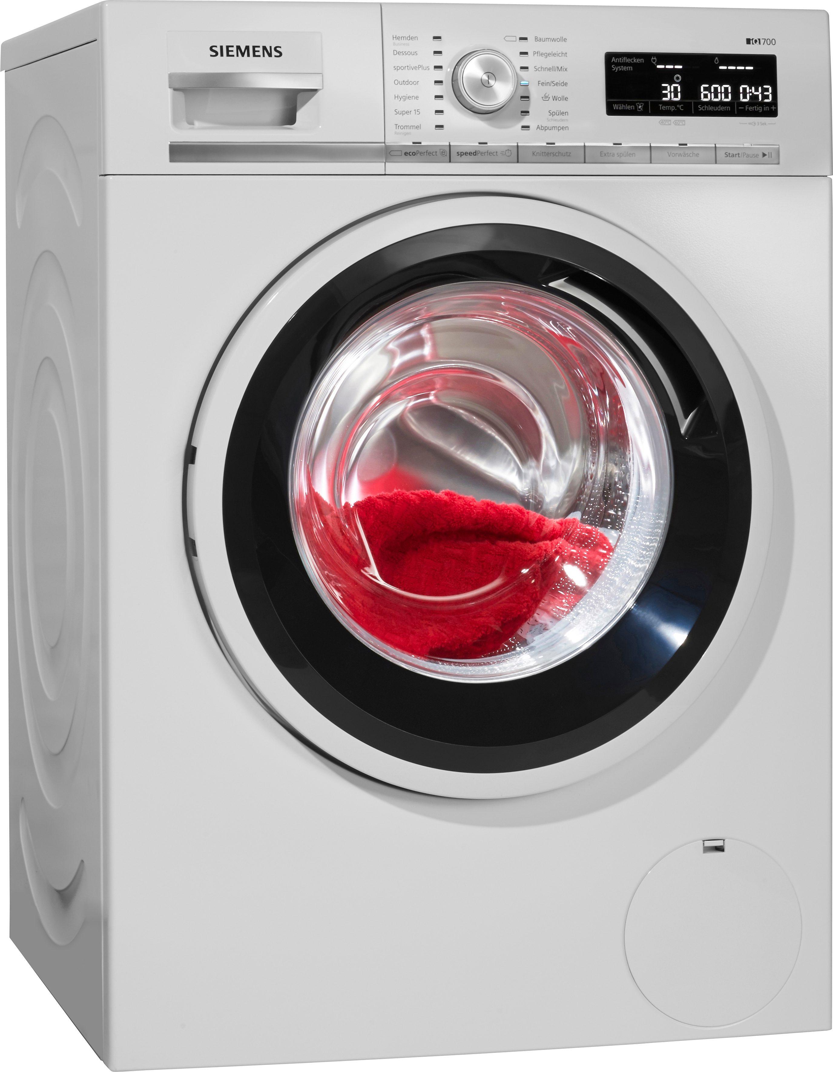 SIEMENS Waschmaschine iQ700 WM14W5ECO, A+++, 8 kg, 1400 U/Min
