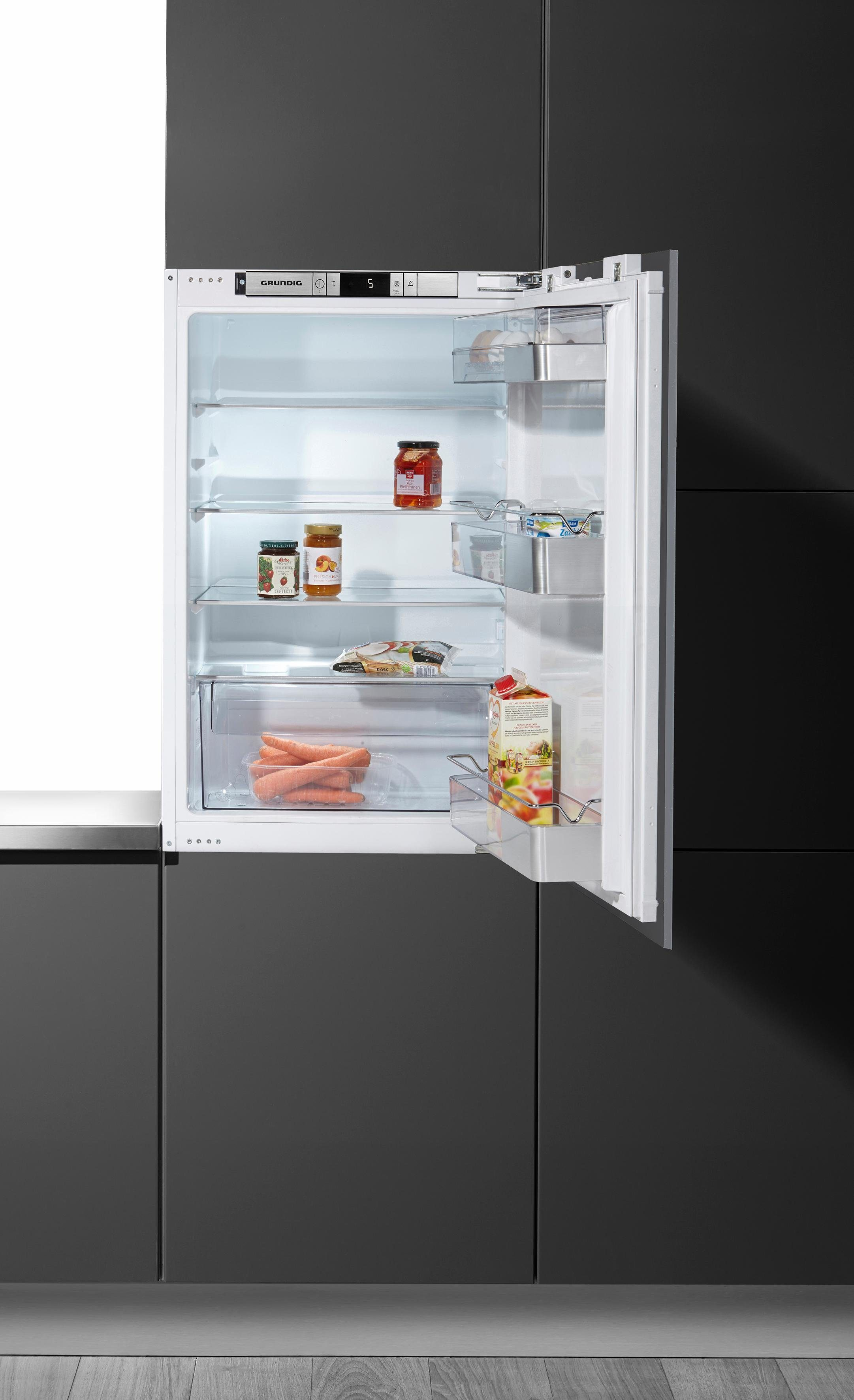Grundig Einbaukühlschrank GTMI 10120, 87,6 cm hoch, 55,6 cm breit, A++, 87,6 cm, integrierbar