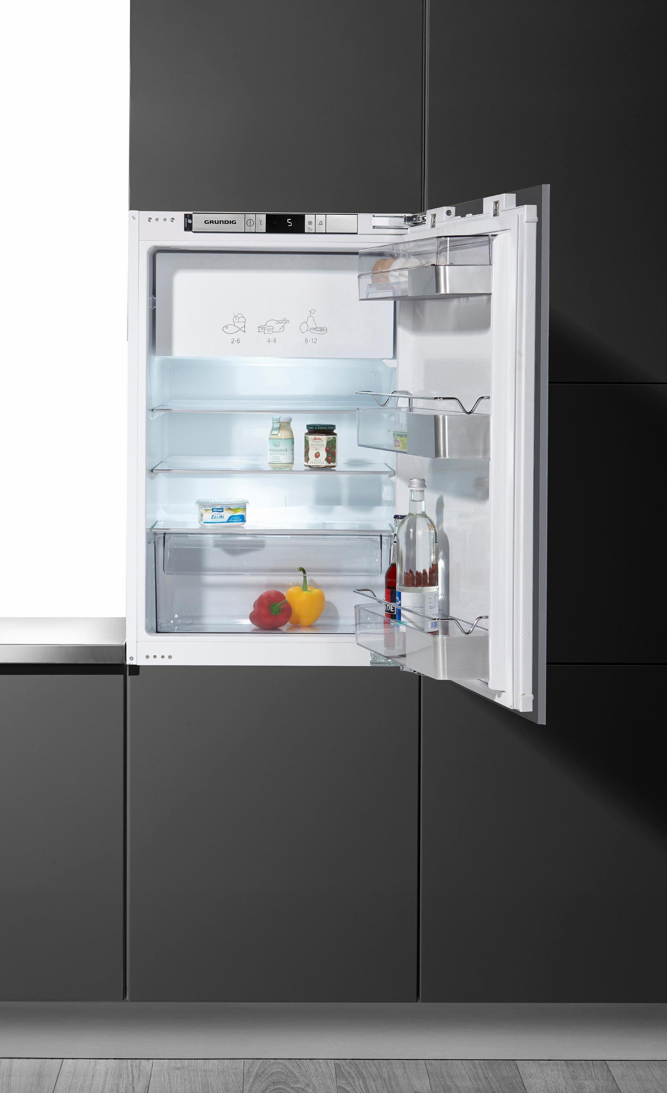 Grundig Einbaukühlschrank GTMI 14120, 87,7 cm hoch, 55,6 cm breit, A++, 87,7 cm, integrierbar