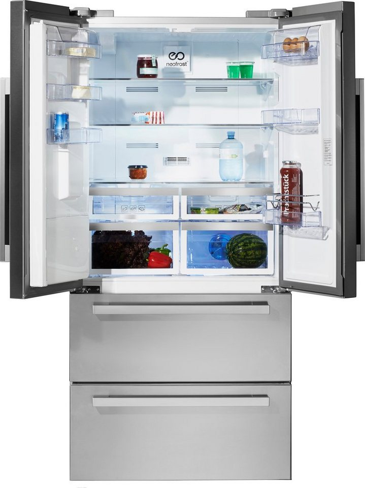 Beko Side by Side GNE 60530 DX, A++, 182 cm, NoFrost in Edelstahl
