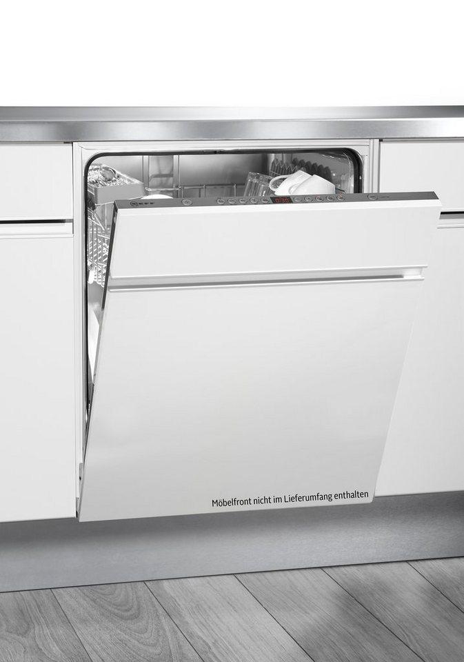 Neff vollintegrierbarer Einbaugeschirrspüler GX 52 / S52N52X2EU, A++, 6,5 Liter, 13 Maßgedecke in edelstahl - weiß