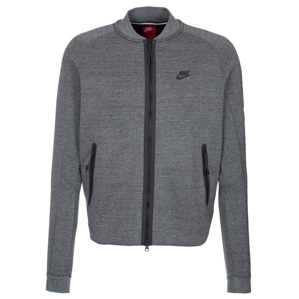 Nike Sportswear Tech Fleece Varsity Jacke Herren in grau / schwarz
