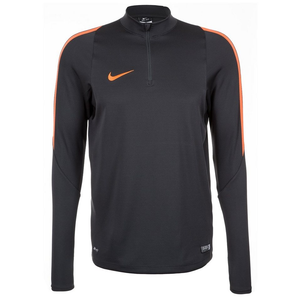 NIKE Drill Top Trainingsshirt Herren in anthrazit / orange