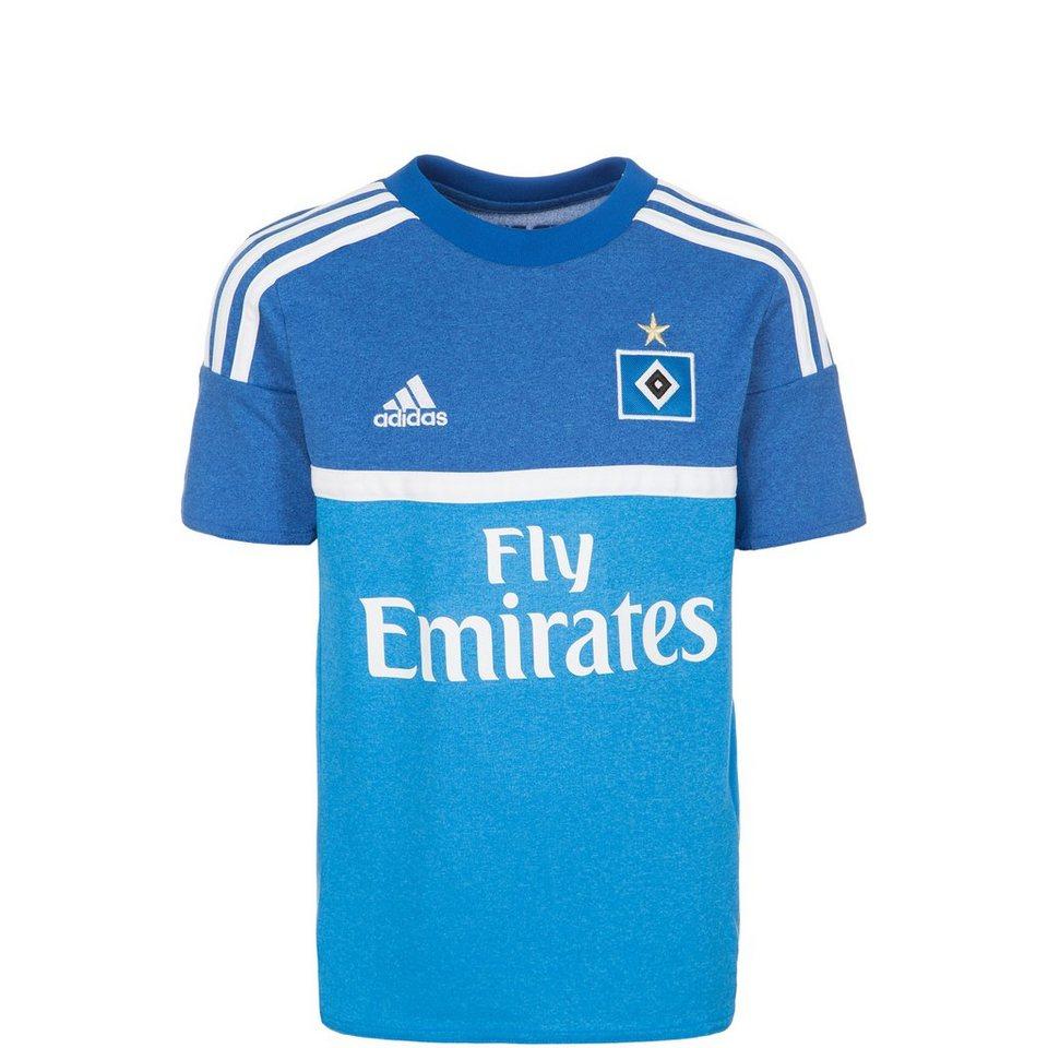 adidas Performance Hamburger SV Trikot Away 2015/2016 Kinder in blau / weiß