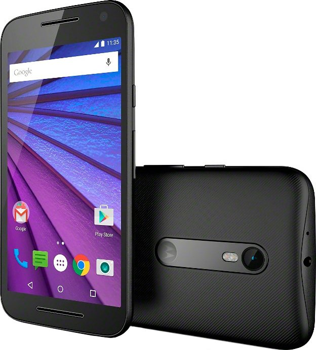 Moto G (3. Generation) Smartphone, 12,7 cm (5 Zoll) Display, LTE (4G) in schwarz