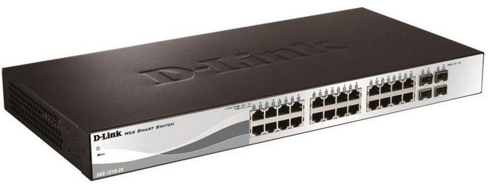 D-Link Switch »DGS-1210-28 28-Port Smart Managed Gigabit Switch« in Schwarz-Silber