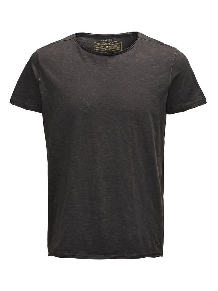 Jack & Jones Einfarbig, Oversize Fit T-Shirt in Raven