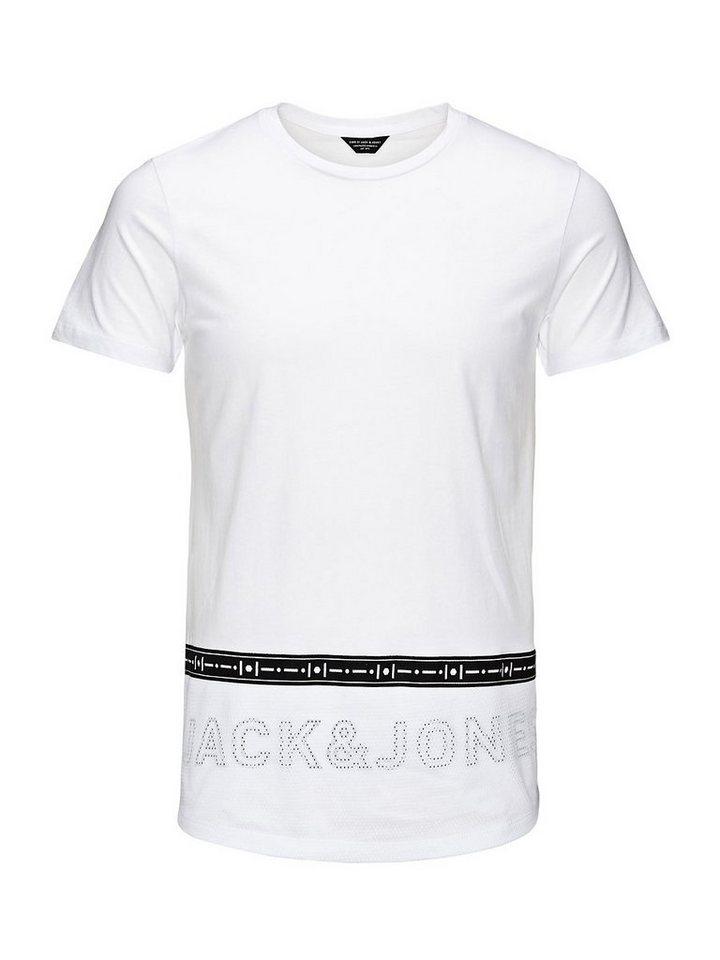 Jack & Jones Mesh, lange Passform T-Shirt in White