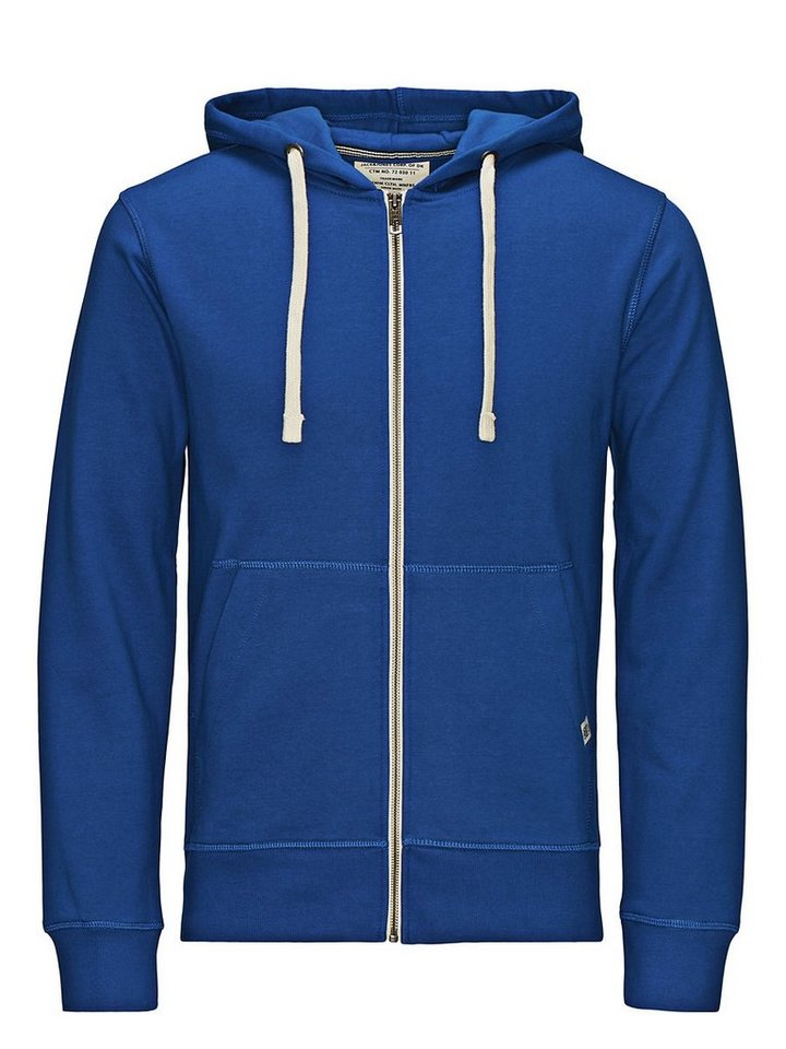 Jack & Jones Zipped Hoodie in Surf the Web