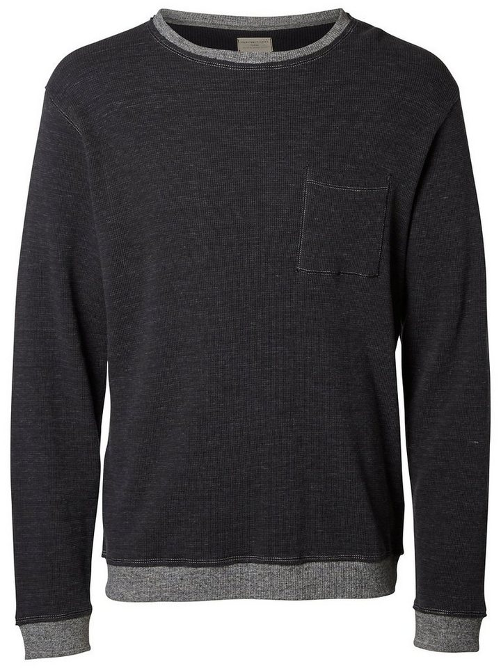 Selected Crew neck - Sweatshirt in Dark Grey Melange