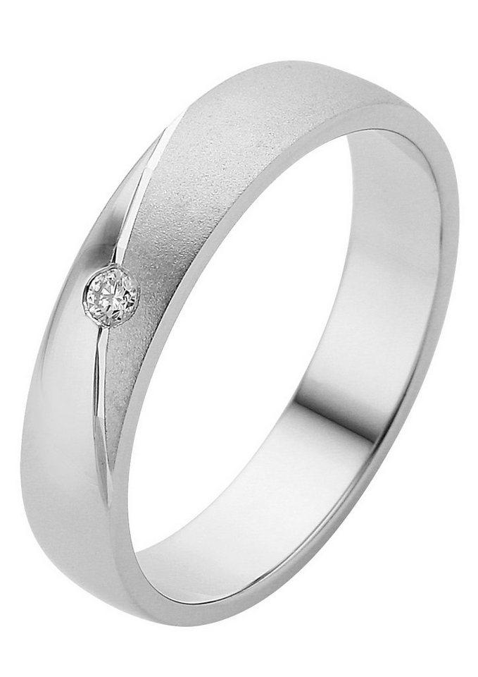 Herren Firetti Trauring mit Gravur Seidenmatt Glanz Diamantschnitt Made in Germany silber | 04007972085611