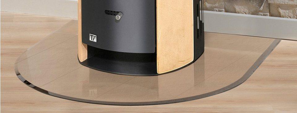 Glasbodenplatte »Halbrundbogen «, 120 x 120 cm, transparent, zum Funkenschutz in weiß