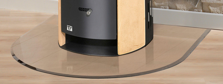 Glasbodenplatte »Halbrundbogen «, 120 x 120 cm, transparent, zum Funkenschutz