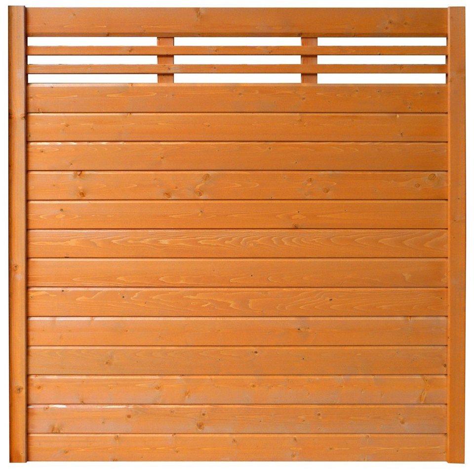 Sichtschutz Zaunelement kirschbaumfarben »EA5Y-F1X 2« (Höhe 180 cm)