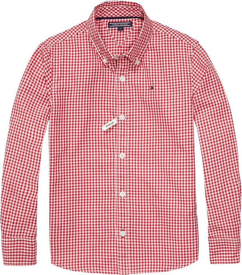 Tommy Hilfiger Hemden »YARD GINGHAM SHIRT L/S« in Tango Red