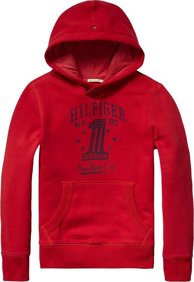 Tommy Hilfiger Sweatshirts »HILFIGER HD HWK L/S« in Tango Red
