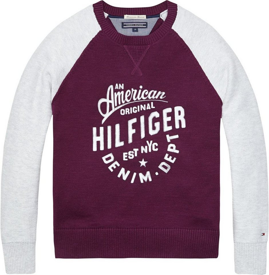 Tommy Hilfiger Pullover »BRIGHTON CN SWEATER L/S« in Potent Purple