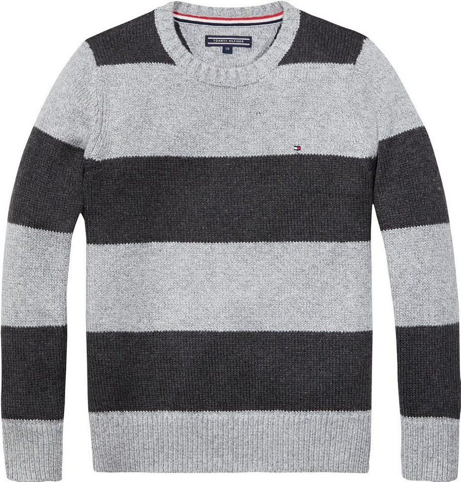 Tommy Hilfiger Pullover »RUGBY STRIPE CN SWEATER L/S« in Grey Heather