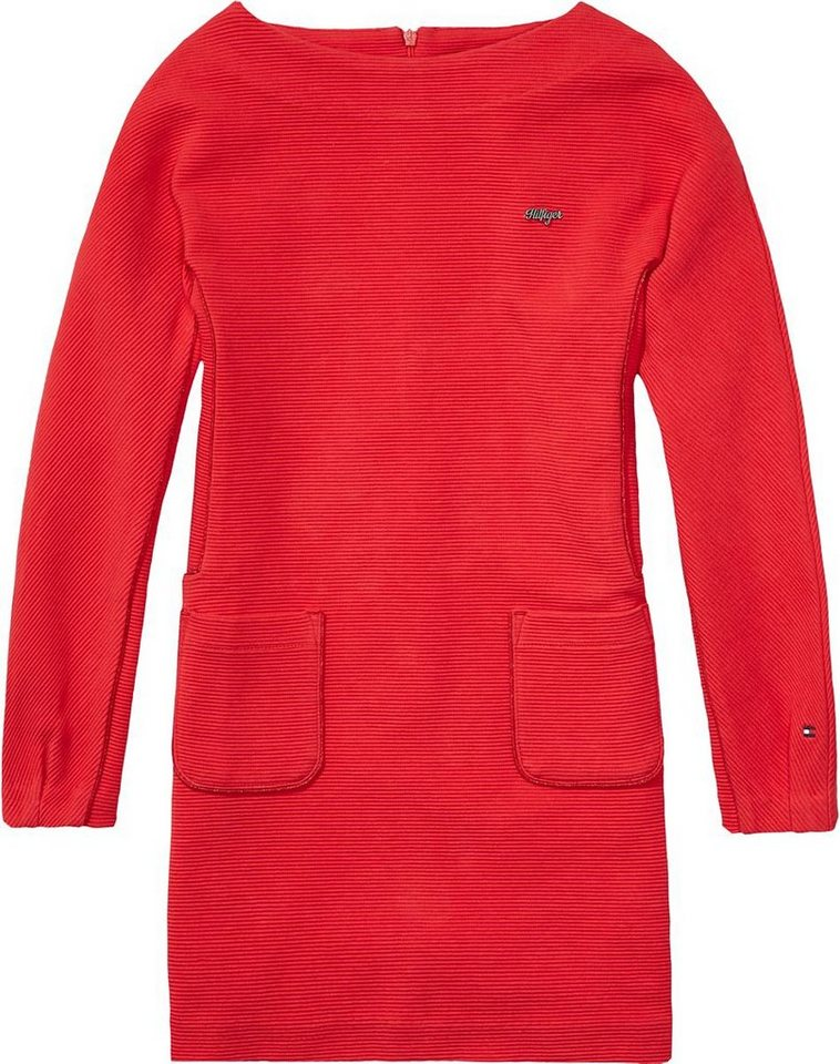 Tommy Hilfiger Kleider »MILEY KNIT DRESS L/S« in Tango Red