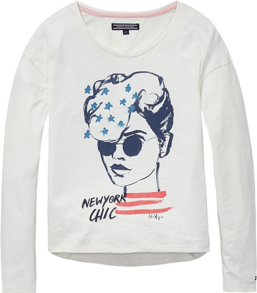 Tommy Hilfiger T-Shirts (langarm) »ROSELLE SN KNIT L/S« in Snow White