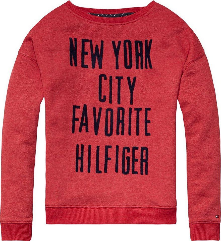 Tommy Hilfiger Sweatshirts »AMIRA BN HWK L/S« in Tango Red