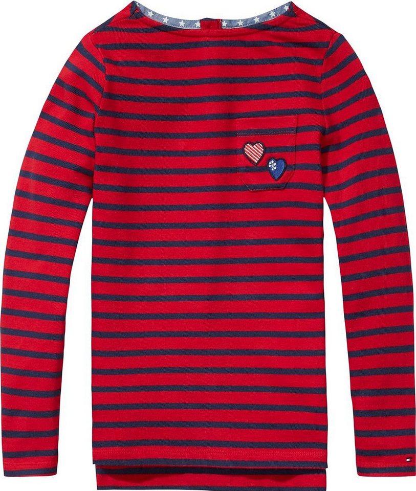 Tommy Hilfiger T-Shirts (langarm) »SASHA STRIPE BN KNIT L/S« in Tango Red