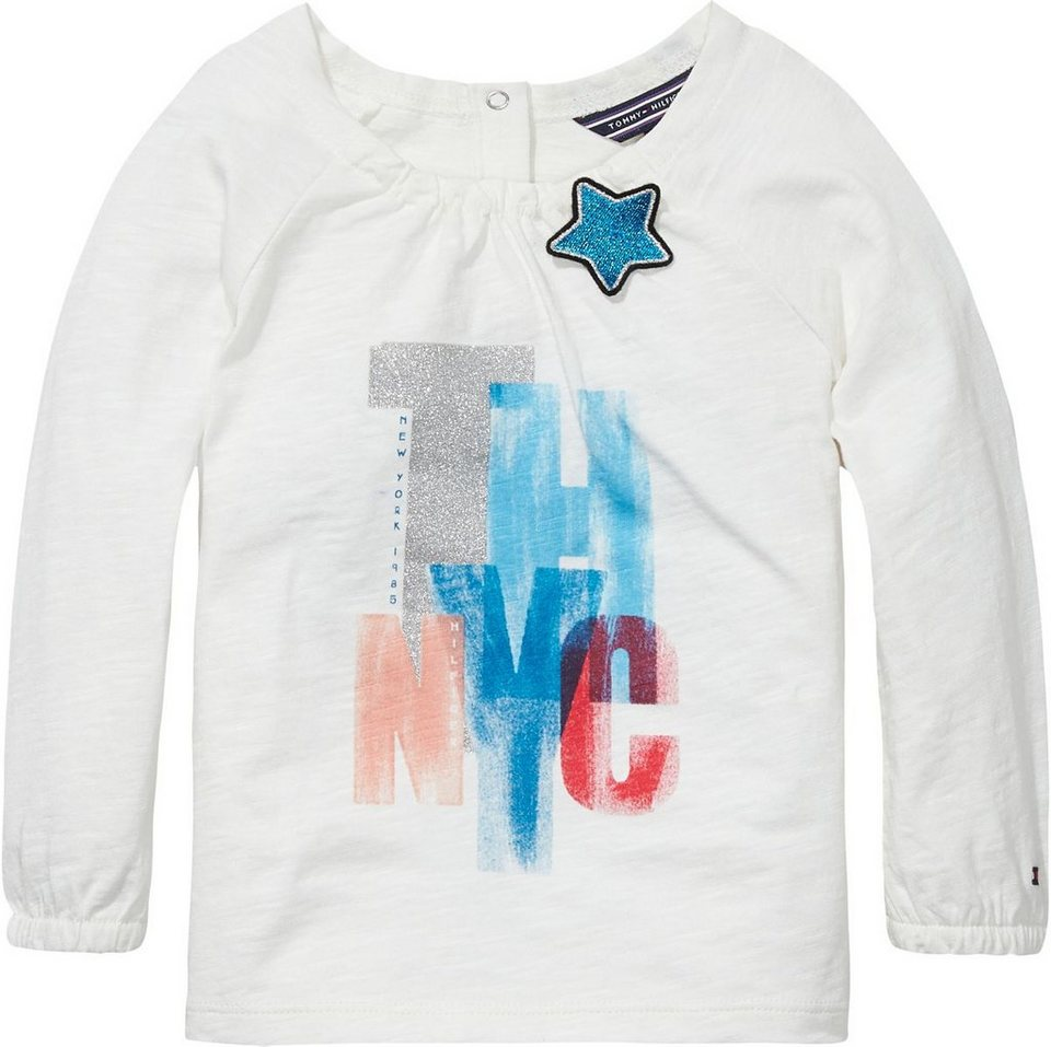 Tommy Hilfiger T-Shirts (langarm) »THNYC MINI KNIT L/S« in Snow White