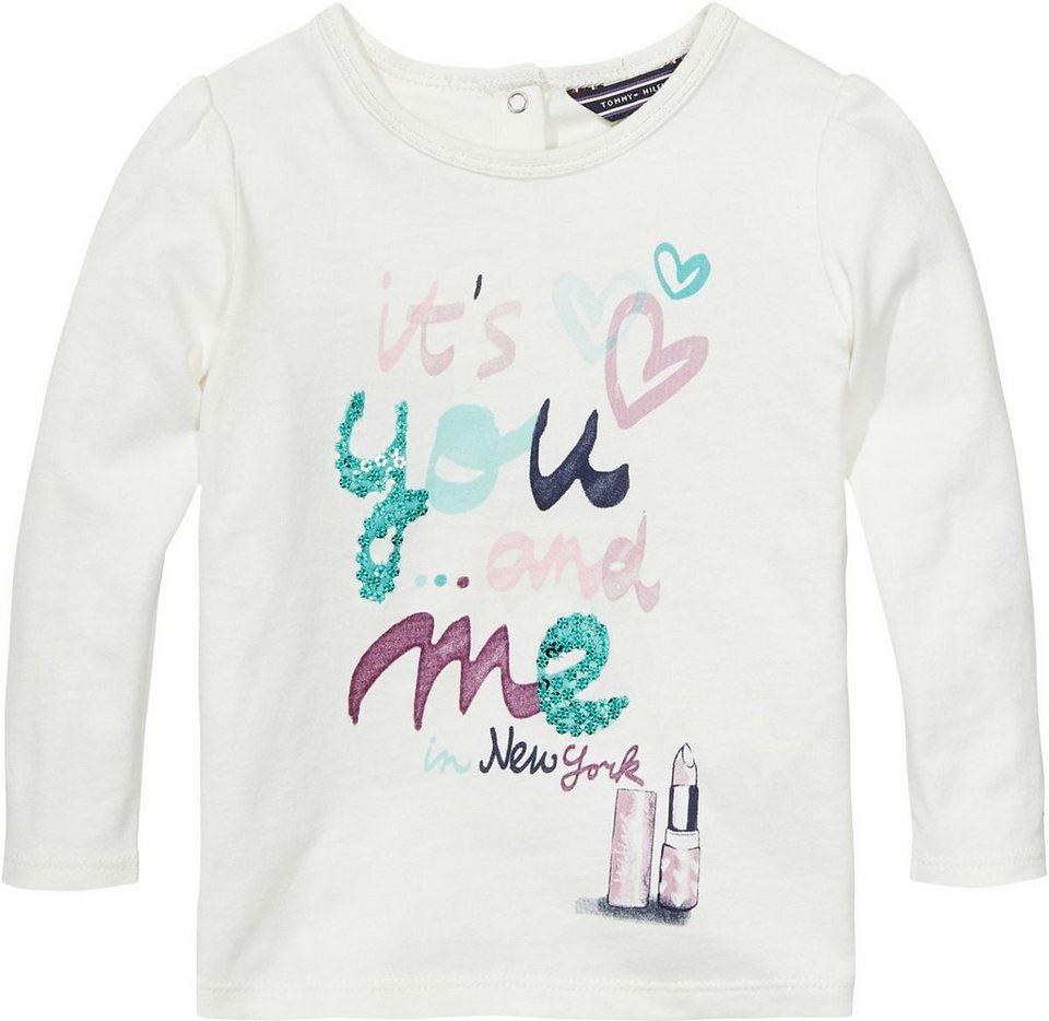 Tommy Hilfiger T-Shirts (langarm) »KOBY MINI CN KNIT L/S« in Snow White