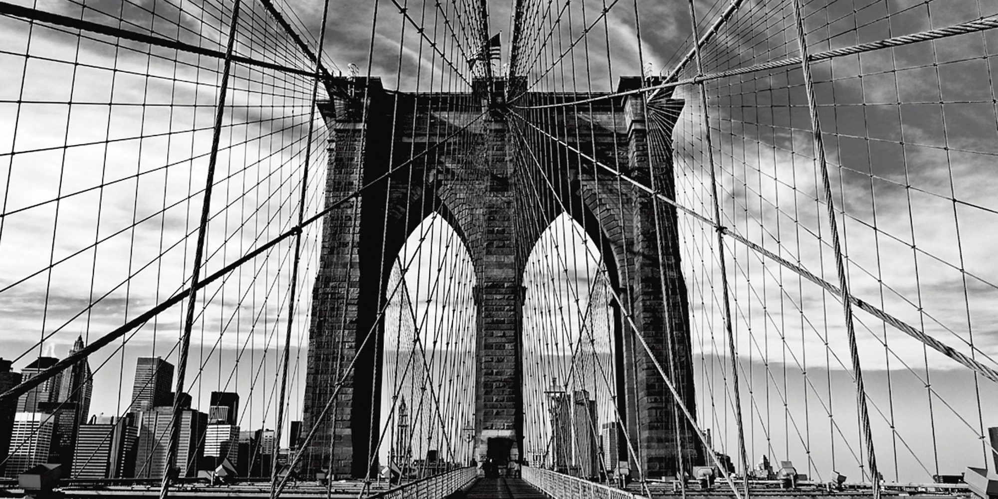 Home affaire Leinwandbild »Peter Knif: Brooklyn Bridge«, 100/50 cm