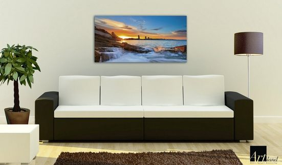 Home affaire Glasbild »Palo ok: Sonnenuntergangszeit am Hua-Hin Strand in Thailand«  100/50 cm