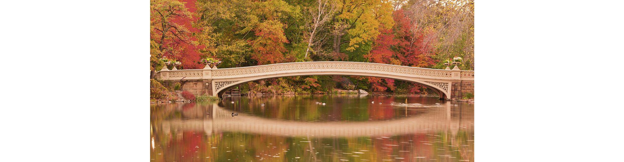 Home affaire Glasbild »EastVillage Images: Bow Bridge im Central Park. N. Y. City«, 100/50 cm