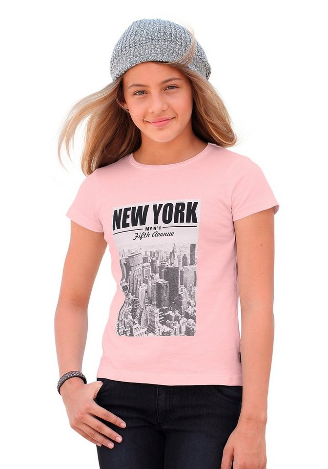 Arizona T-Shirt mit coolem Fotodruck in rosa