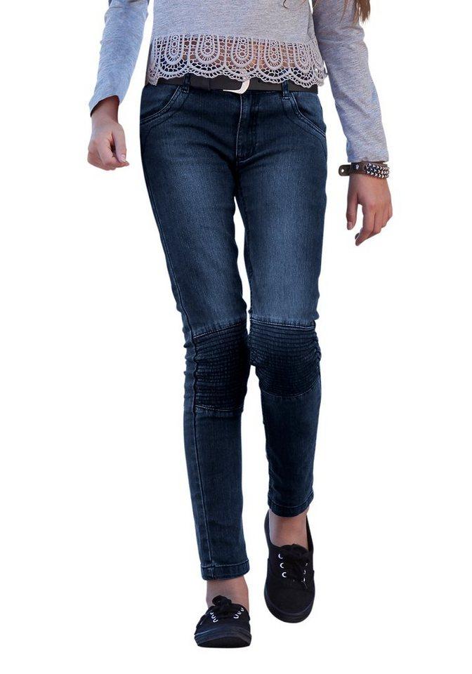 Arizona Jeans Skinny, für Mädchen in blue stone