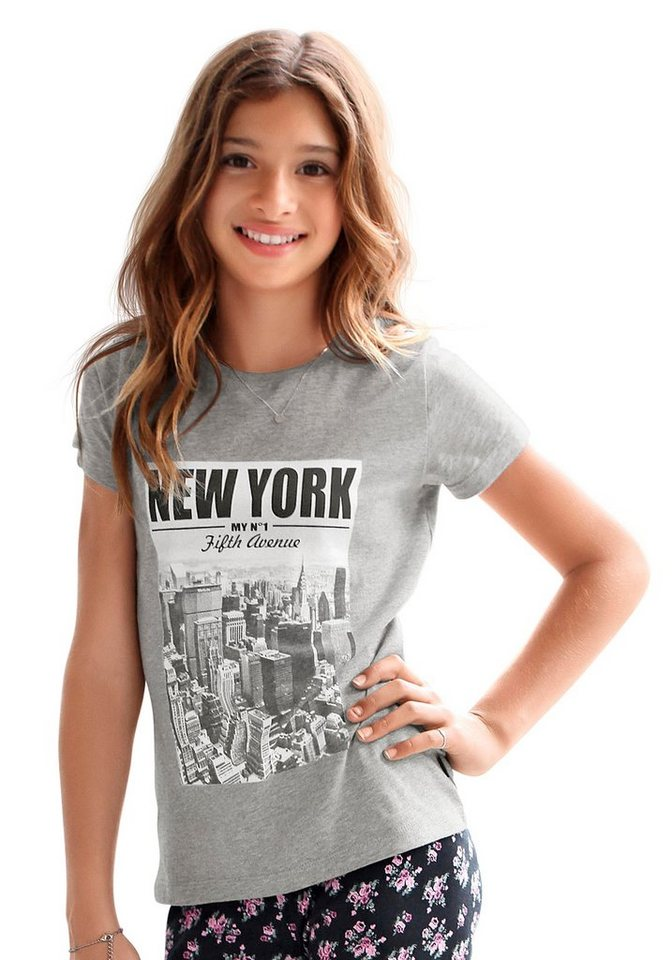 Arizona T-Shirt mit coolem Fotodruck in grau