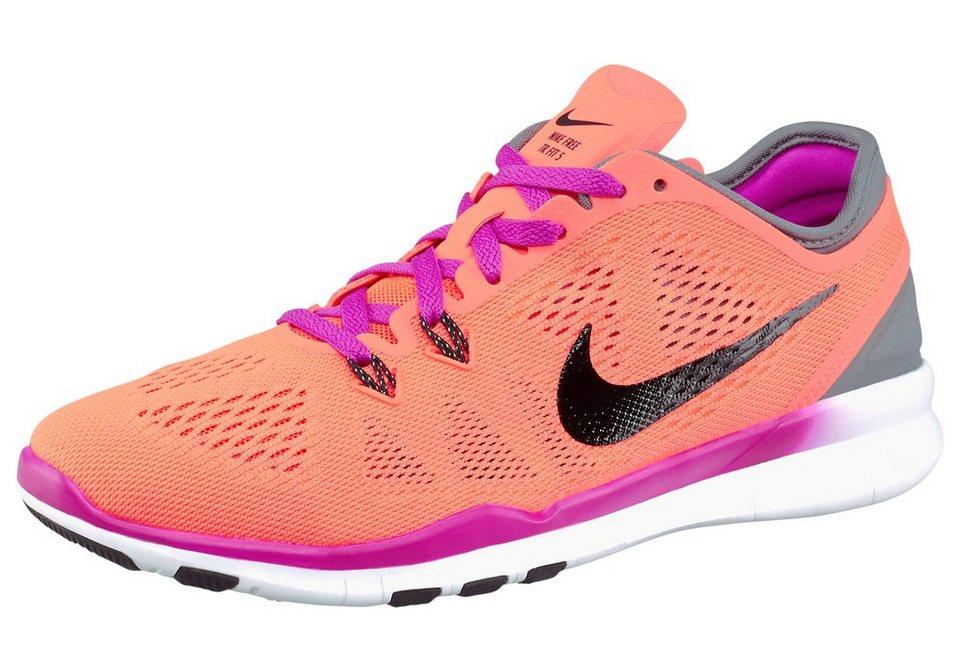 Nike Free 5.0 TR FIT 5 Wmns Fitnessschuh in Neon-Orange-Schwarz
