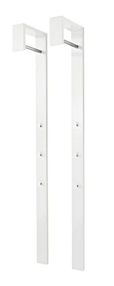Set: Garderobenpaneel »Space« (2 Stck.), HMW Möbel in weiß