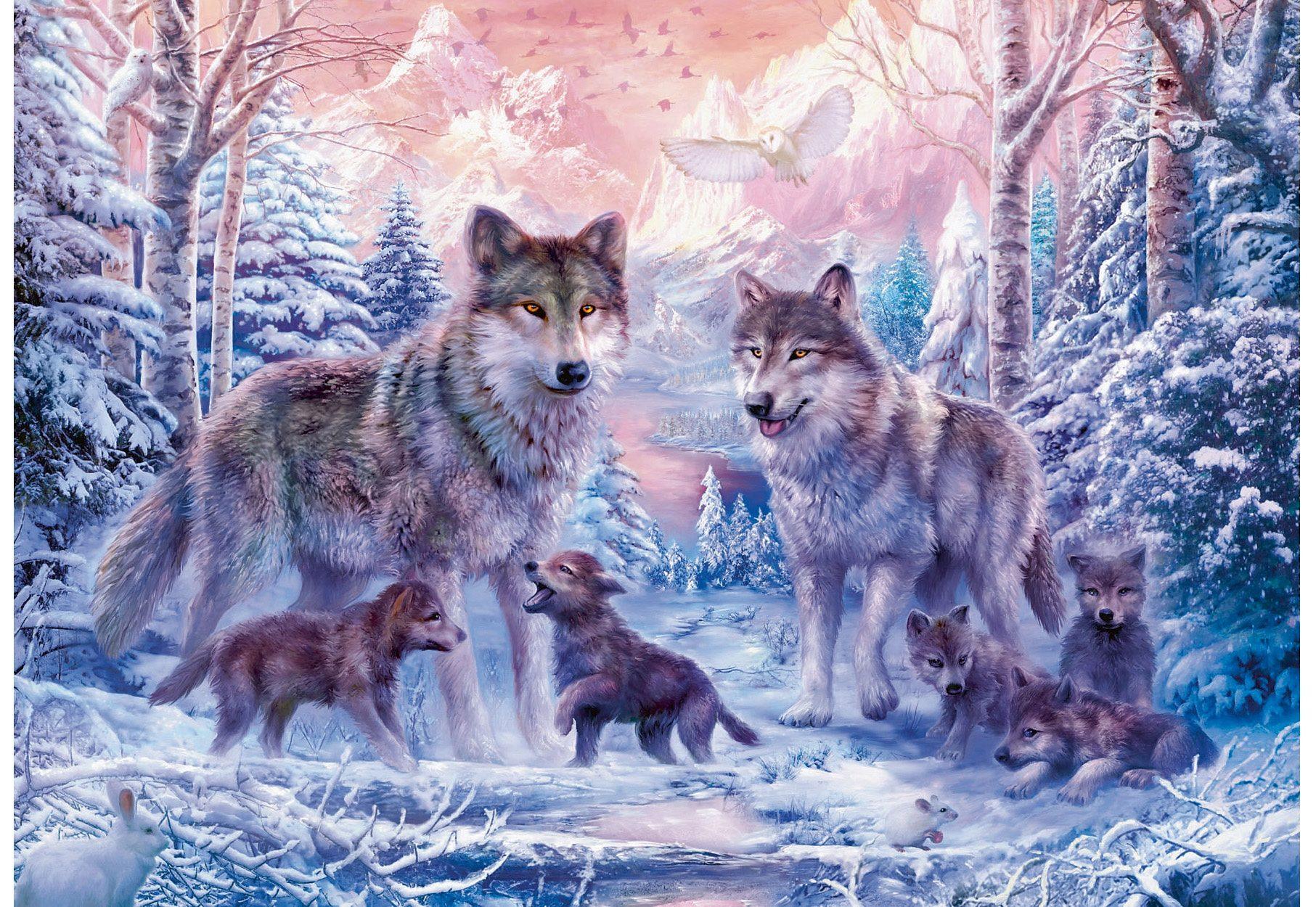Ravensburger Puzzle, »Arktische Wölfe«