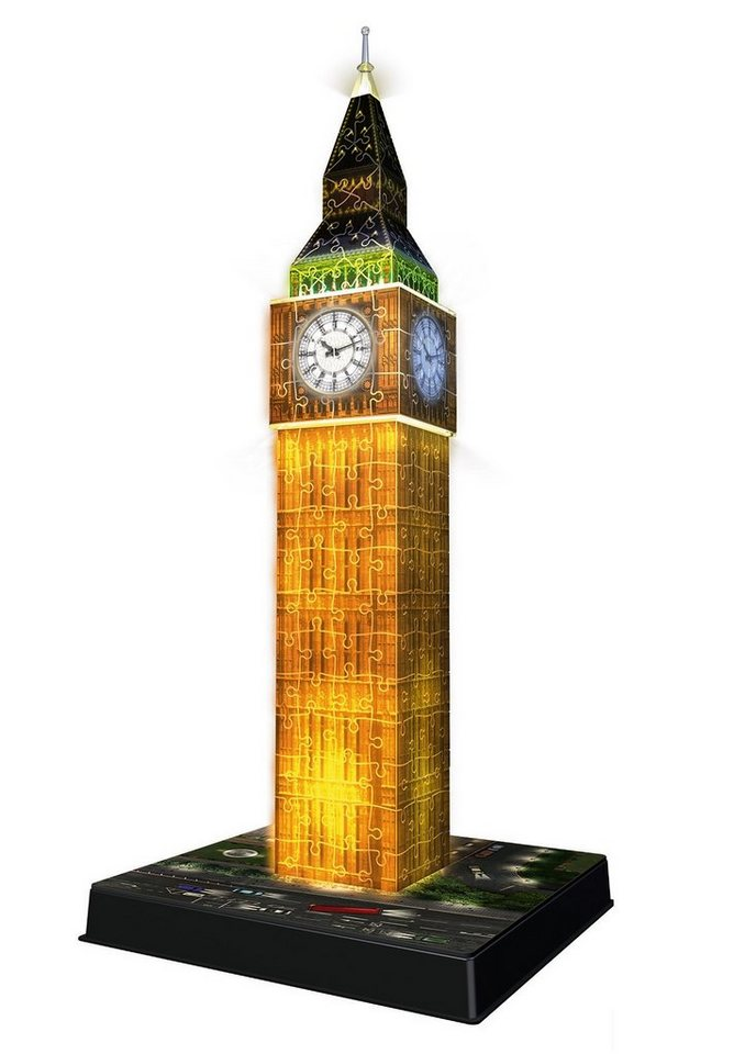 ravensburger 3d puzzle big ben bei nacht kaufen otto. Black Bedroom Furniture Sets. Home Design Ideas