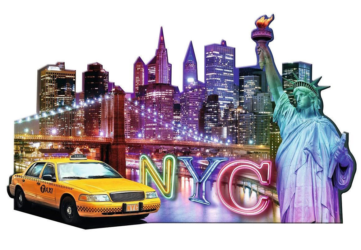 Ravensburger Puzzle, » Silhouette - Skyline, New York«