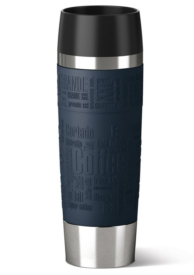 emsa Isolierbecher, Edelstahl, 0,5 Liter, »TRAVEL MUG GRANDE« in blau