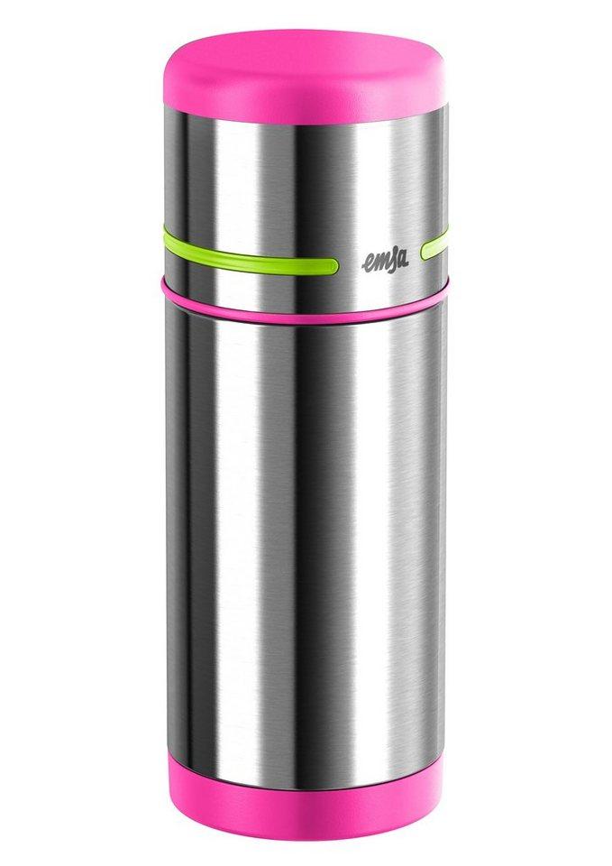 emsa Isolierflasche, Edelstahl, 0,35 Liter, »MOBILITY KIDS« in silberfarben/Pink/Hellgrün