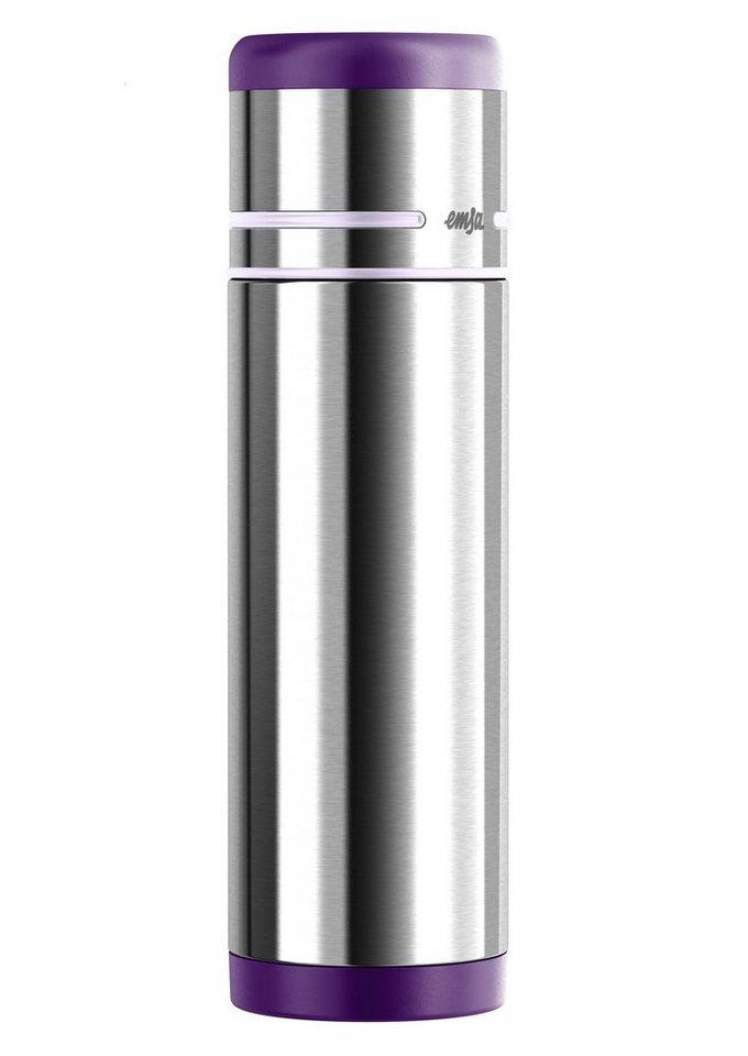 emsa Isolierflasche, Edelstahl, »Mobility« in silberfarben/lila