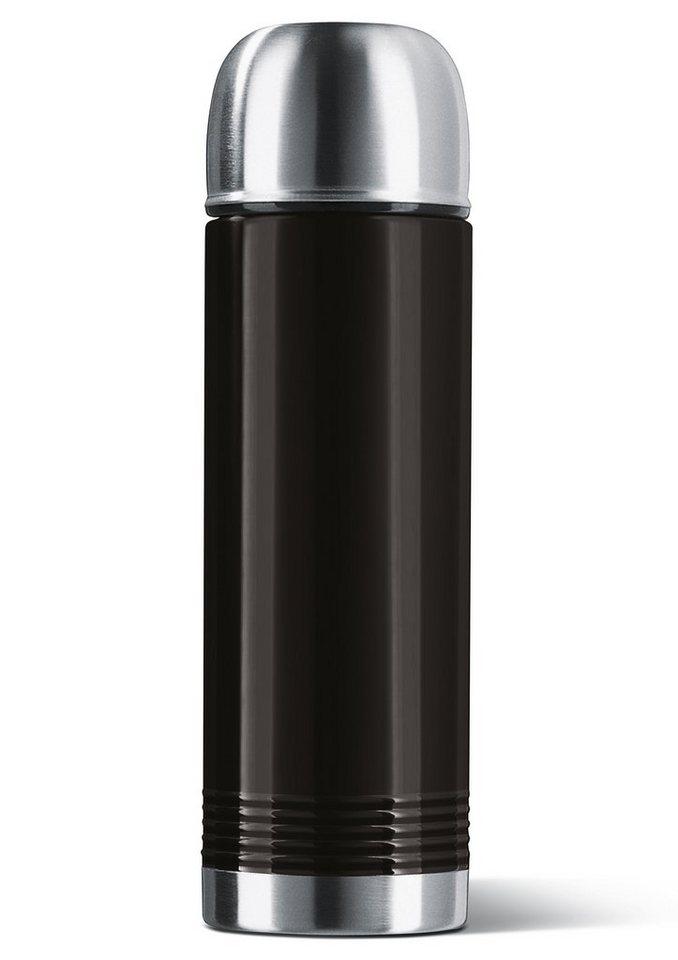 emsa Isolierflasche,Edelstahl, 0,7 Liter, »SENATOR« in schwarz