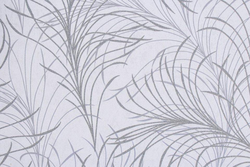 Vliestapete »Estelle«, grau Struktur in grau