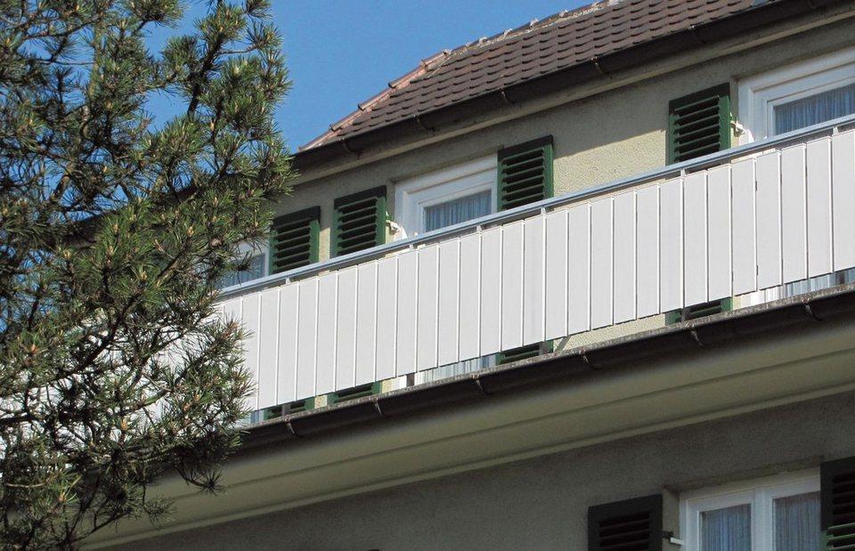 Abdeckprofil-Balkonsystem in weiß
