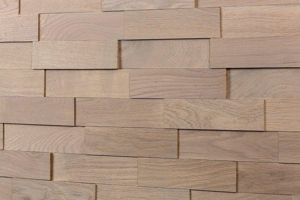 Wodewa 3D Holzdeko, Eiche grau in eichefarben