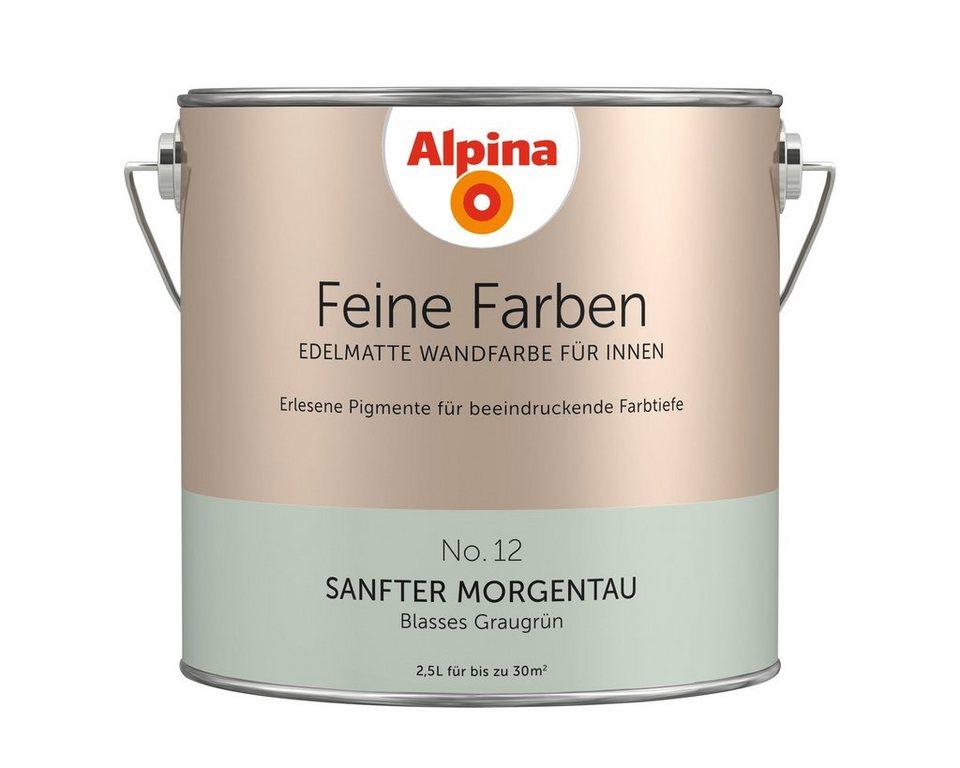 Feine Farben »Sanfter Morgentau« in Blasses Graugrün