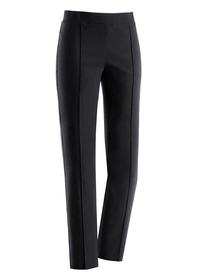 Ambria Hose mit optisch streckender Längsnaht in schwarz