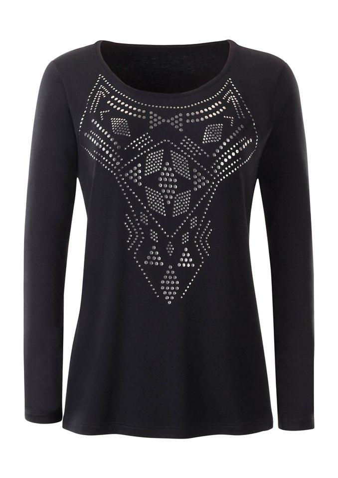 Ambria Shirt mit Rundhals-Ausschnitt in schwarz